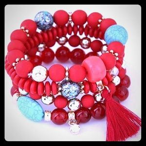 FOUR LAYERS CANDY COLOR HIGH FASHION BRACELET